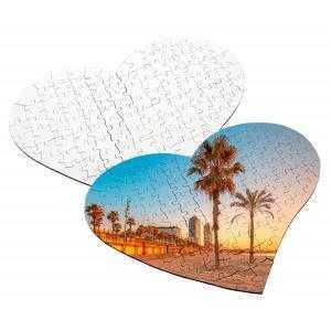 Puzzles corazón de 111 piezas de madera (35,5 x 28,5 cm)
