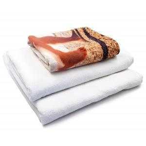 Toallas de microfibra y algodón