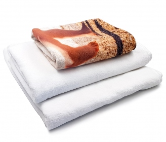 Microfibre and cotton towels