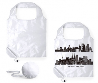 Foldable shopping bag in case