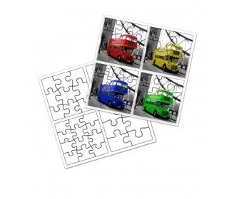 4 in 1 children puzzles High Quality (39 x 39 cm)
