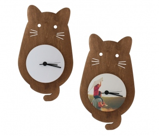 Wooden cat watches