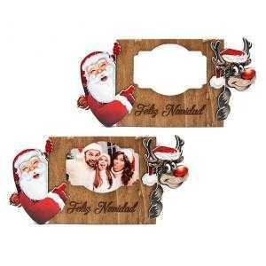 Colgador de Navidad  - Papa Noel y Reno