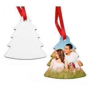 Ornements de sapin de Noël en bois (2 côtés)