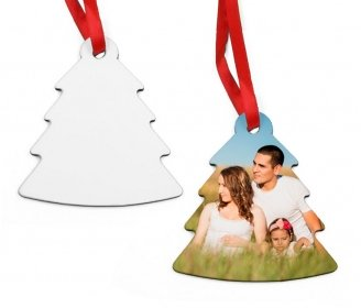 Wooden Christmas tree ornaments (2 sides)