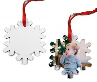 Wooden snowflake ornaments (2 sides)
