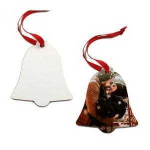 Ornements de cloche de Noël en bois (2 côtés)