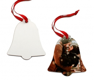 Wooden Christmas bell ornaments (2 sides)