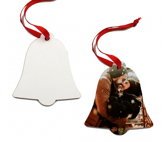 Wooden Christmas bell ornaments (2 sides) for sublimation