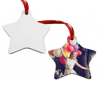 Wooden Christmas star ornaments (2 sides)