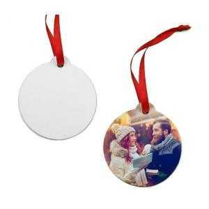 Ornements boule de Noël en bois (2 côtés)