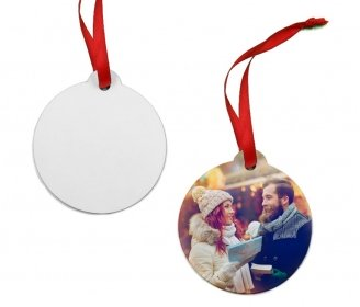 Wooden Christmas ball ornaments (2 sides)