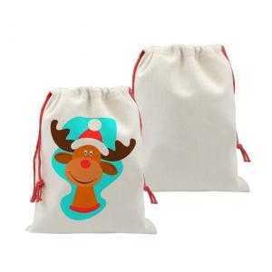 Bolsas saco de navidad ( tipo lino)