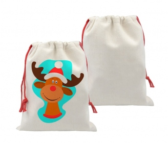 Linen like christmas sack bags