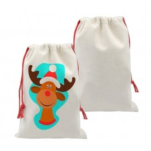 Linen like christmas sack bags