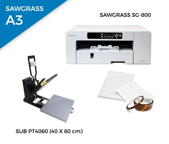 Pack thermal plate SUB-PT4060 + printer Sawgrass 800