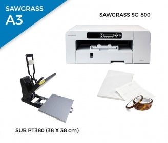 Pack thermal plate SUB-PT380 + printer Sawgrass 800