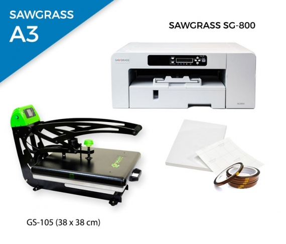 Pack thermal plate AutoClamSlider GS-105 (38 x 38 cm) + printer Sawgrass 800