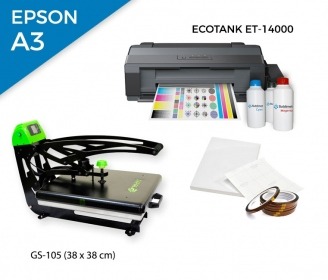 Pack thermal plate AutoClamSlider GS-105 (38 x 38 cm)  + printer Epson EcoTank ET-14000