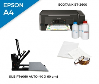 Pack thermal automatic plate SUB-PT4060 + printer Epson EcoTank ET-2600