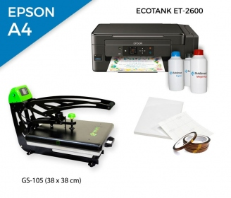 Pack thermal plate AutoClamSlider GS-105 (38 x 38 cm) + printer Epson EcoTank ET-2600