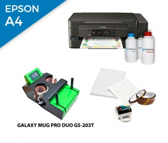 Pack thermal plate for mugs Galaxy DUO GS-203T + printer Epson EcoTank ET-2600