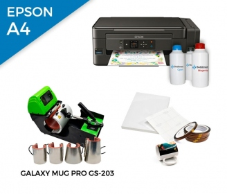 Pack thermal plate for mugs Galaxy Mug Pro GS-203 + printer Epson EcoTank ET-2600