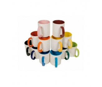 Customizable ceramic mugs with handle and color inside HIGH QUALITY (A)