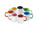 High quality (A) ceramic mug with inside and handle colored