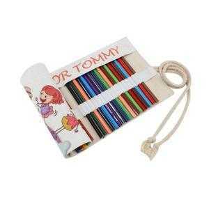 Trousse à crayons aspect lin