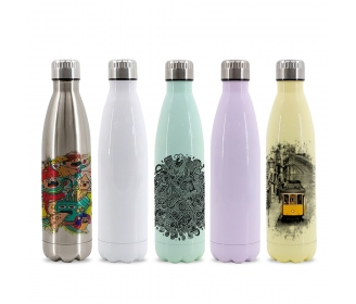 Cola Shape Stainless Steel Bottle 750 ml
