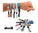 Woven wristbands with plastic sliding clip closure (Pack of 5u.)