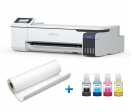 Pack SureColor SC-F500 - 24 inch (60 cm) dye sub printer (paper + inks)