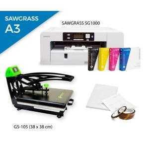 Pack plancha térmica AutoClamSlider GS-105 (38 x 38) + impresora Sawgrass SG1000
