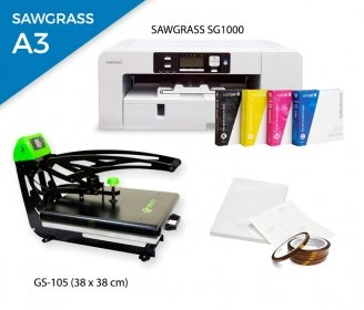 Pack thermal plate AutoClamSlider GS-105 (38 x 38 cm) + printer Sawgrass SG1000