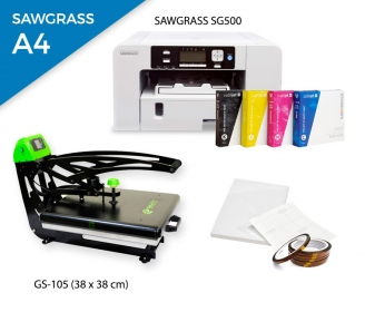 Pack thermal plate AutoClamSlider GS-105 (38 x 38 cm)  + printer Sawgrass SG500