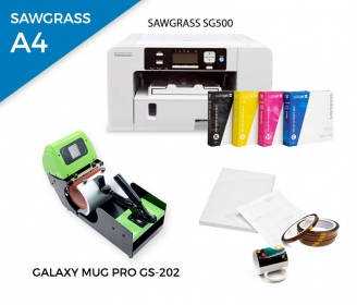 Pack heat press for mugs Galaxy Mug Pro GS-202 + printer Sawgrass SG500