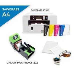 Pack plancha térmica para tazas Galaxy Mug PRO GS-202 + impresora Sawgrass SG500