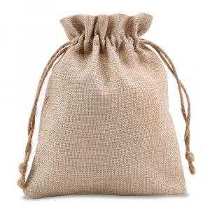 Bolsa de tela tipo arpillera 17 x 21 cm