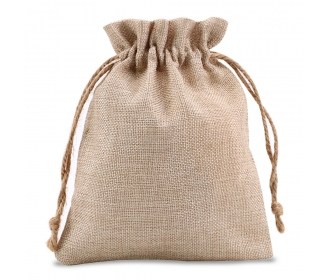 Burlap like bag 17 x 21 cm