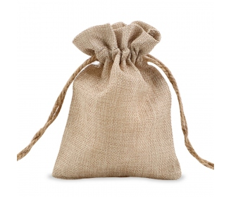 Burlap like bag 12 x 17 cm
