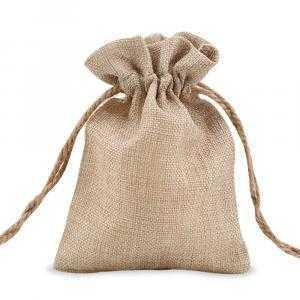 Burlap like bag 12 x 17 cm
