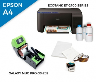 Pack thermal plate for mugs Galaxy Mug Pro GS-202 + printer Epson EcoTank ET-2700 Series