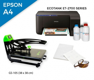 Pack thermal plate AutoClamSlider GS-105 (38 x 38 cm) + printer Epson EcoTank ET-2700 Series