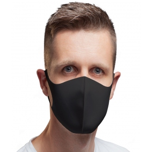Reusable hygienic black face mask