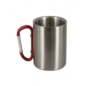 Taza de acero con asa  mosquetón 7oz