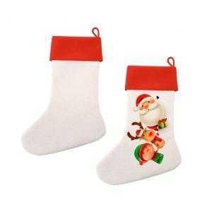 Calcetín de Navidad tipo lino