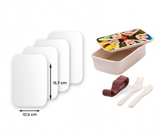 Plastic sheeting for Bamboo lunch box with cutlery