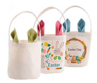 Linen Easter Basket