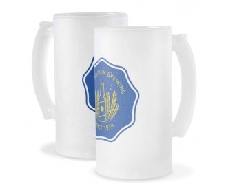 16oz Frosted glass Beer stein (pack of 2)